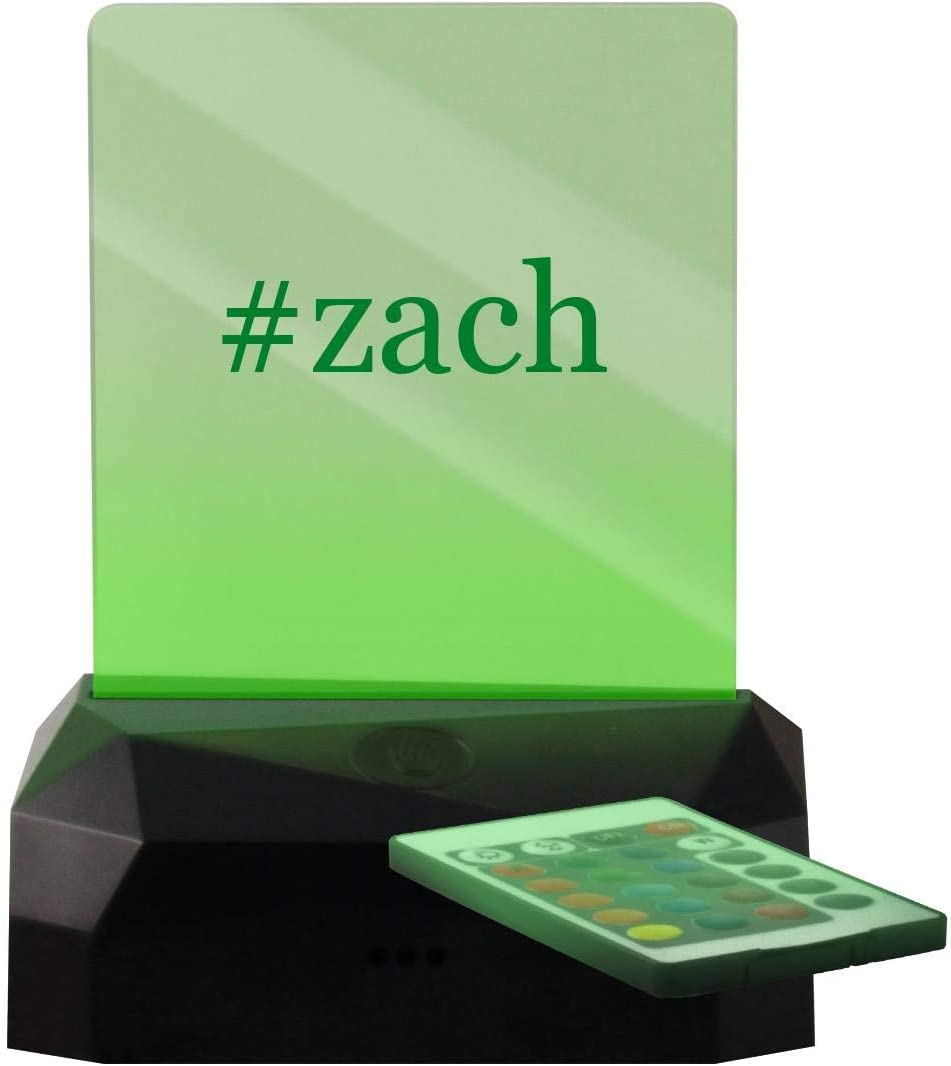 #zach - Hashtag LED Rechargeable USB Edge Lit Sign
