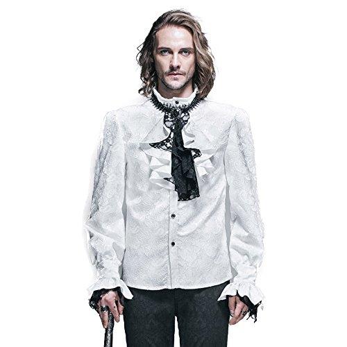 ヘクタール再発する符号Gothic Punk メンズ 紳士 シャツ 長袖 カジュアル ワイシャツ