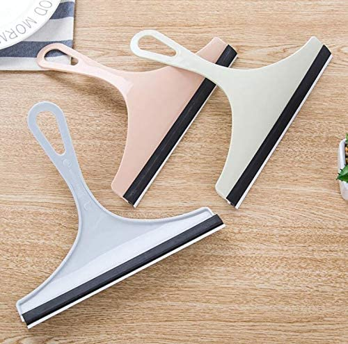 3Pcs Multi-Use Handled Squeegee Double-Sided Clean Squeegees with Plastic Handle for Shower Door Windows Mirrors Car Windshield Color Random