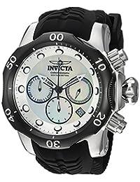 Invicta Men's 'Venom' Quartz Stainless Steel and Silicone Casual Watch, Color:Black (Model: 22358)