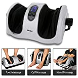 Foot Calf Massager with Heat, Shiatsu Deep Kneading Massage Machine for Foot Calf Arm, Stimulate Blood Circulation Treatment for Plantar Fasciitis