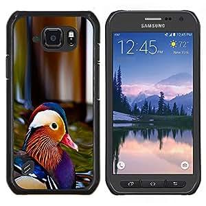 Colorido Pato- Metal de aluminio y de plástico duro Caja del teléfono - Negro - Samsung Galaxy S6 active / SM-G890 (NOT S6)