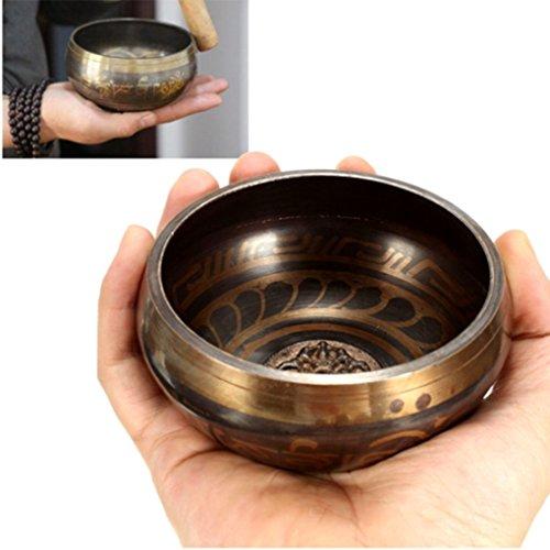 Cut Glass Compote (95mmTibetan Yoga Singing Bowl Brass Buddhism Chime Acoustic Resonance Meditation)