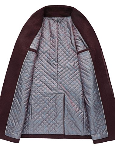 Uomo Invernale Lana Caloroso Sottile Cappotto Di xs Vogstyle Borgogna Trapuntato xl d4n7qCfq