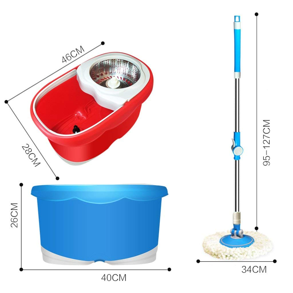 Desti Flakes Rotate The Mop Bucket Without Hand Washing (Color : Blue) by Desti Flakes (Image #6)