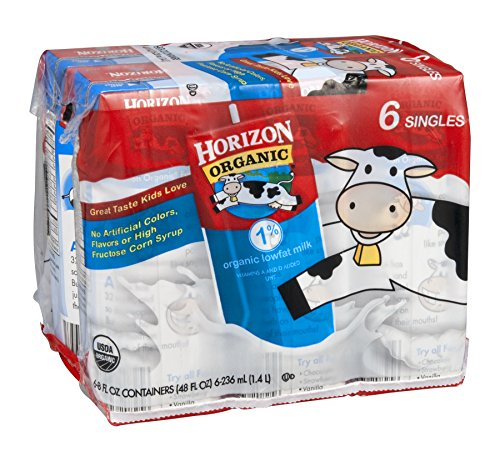 Horizon Organic Milk 1% Lowfat 6/8 FZ (Pack of 18) by Horizon Organic by Horizon Organic