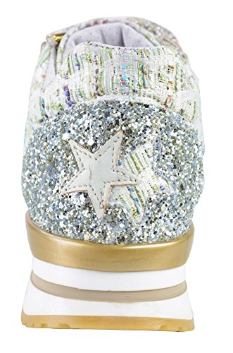 Gold 2Star Shoes Women's Turquoise White,Lime, Textile Sneaker 40