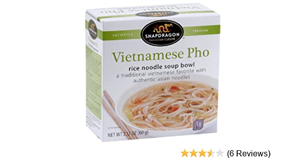 Amazon Com Snapdragon Vietnamese Pho Rice Noodle Soup Bowl 2 1 Ounce Boxes Pack Of 12 Prepared Noodle Bowls Grocery Gourmet Food