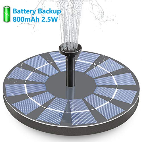Hiluckey Solar Bird Bath