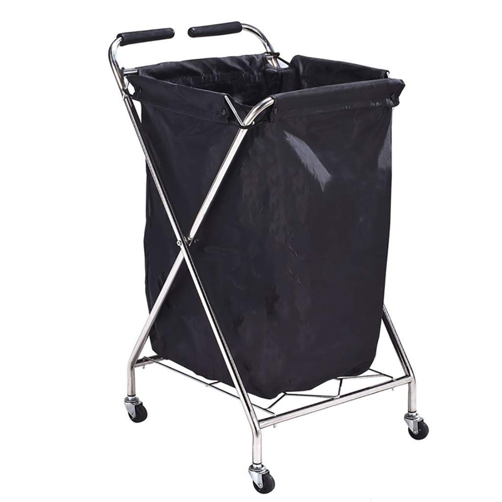 Hotel Cart, Stainless Steel Thick Linen car Hotel Hotel Room Cleaning Hand Push Work car