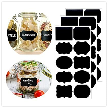 amazon com chalkboard labels set 50 100 waterproof jar labels