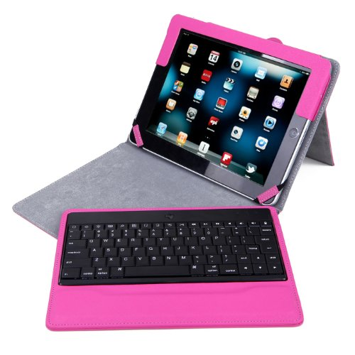 Smart Leather Cover Case for Apple iPad 2/3/4 (Hot Pink) - 9