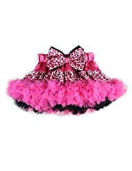 Pettigirl Girl's Pettiskirt Hot Pink Leopard Printed Bow Baby Tutu Skirt 1-5 Y