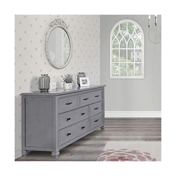 Evolur Madison Double Dresser in Storm Grey