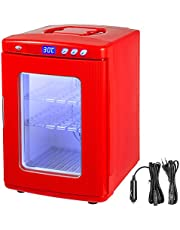 Happybuy Reptile Incubator 25L Scientific Lab Incubator Cooling and Heating 5-60°C 12V/110V Work for Small Reptiles (Red)