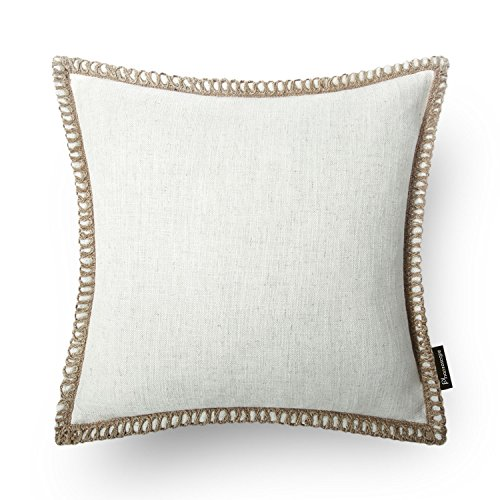 PHANTOSCOPE Decorative Farmhouse Serious Linen Trimmed Throw