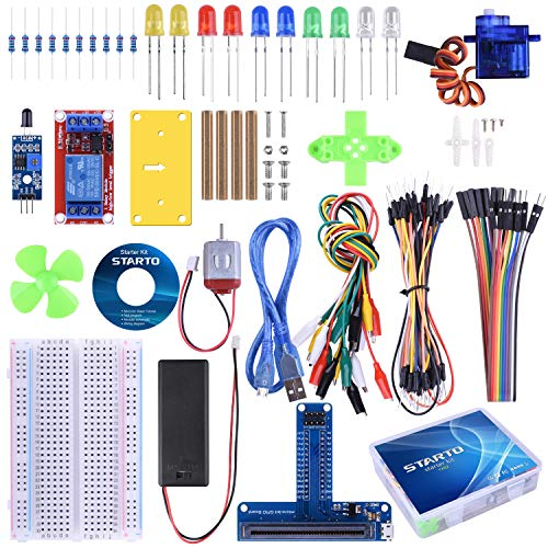 STARTO for BBC Micro:bit Starter Kit Includes SG90 Servo, Expansion Board, Battery Holder, Jumper Wires, Relay and Sensor Kit with Free Tutorial for Classroom Teaching DIY Kids Beginners and - Kit Battery Expansion
