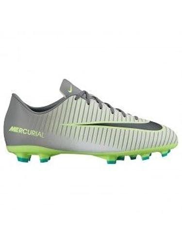 Nike JR Mercurial Vapor XI AG, Botas de Fútbol Unisex Adultos, Plateado (Pure Platinum/Black-Ghost Green), 38 EU