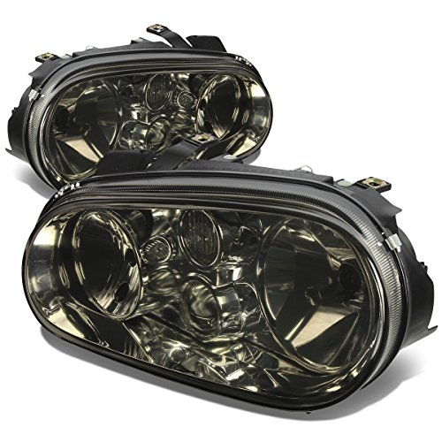 Volkswagen Golf Headlight Lamps Kit (Smoke Lens) - MK4 MK IV (Golf Body Volkswagen Auto)