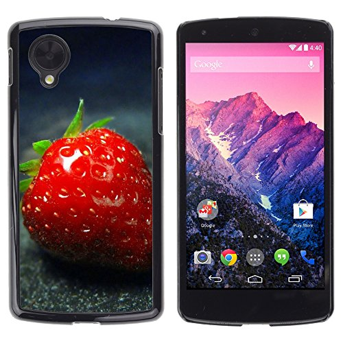 Be Good Phone Accessory // Hard Shell Protective Cover Case for LG Google Nexus 5 D820 D821 // Strawberry (Google Nexus Lg 5 D820)