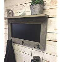 Chalkboard Shelf-Kitchen Chalkboard-chalkboard coat rack-Rustic Chalkboard Shelf-Shelf-Chalkboard-Message Board Shelf-Entryway Chalkboar