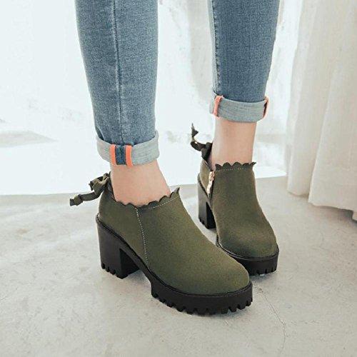 AIURBAG Mujer Zapatos Materiales Personalizados Otoño Invierno Botas Camperas Botas de nieve Botas de Moda Botas hasta el Tobillo Botas de almond