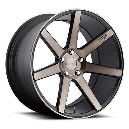 Niche Verona 19 Black Flake Wheel / Rim 5x100 with a 40mm Offset and a 66.1 Hub Bore. Partnumber M150198580+40
