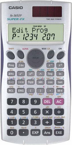 Casio Programmable Calculator (Casio Super Fx-3650p Programmable Scientific Calculator Fx3650p 2 Line Display Multi Replay Function)
