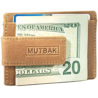 MUTBAK Bunker - Front Pocket Money Clip Wallet with RFID/NFC Blocking (Durango)