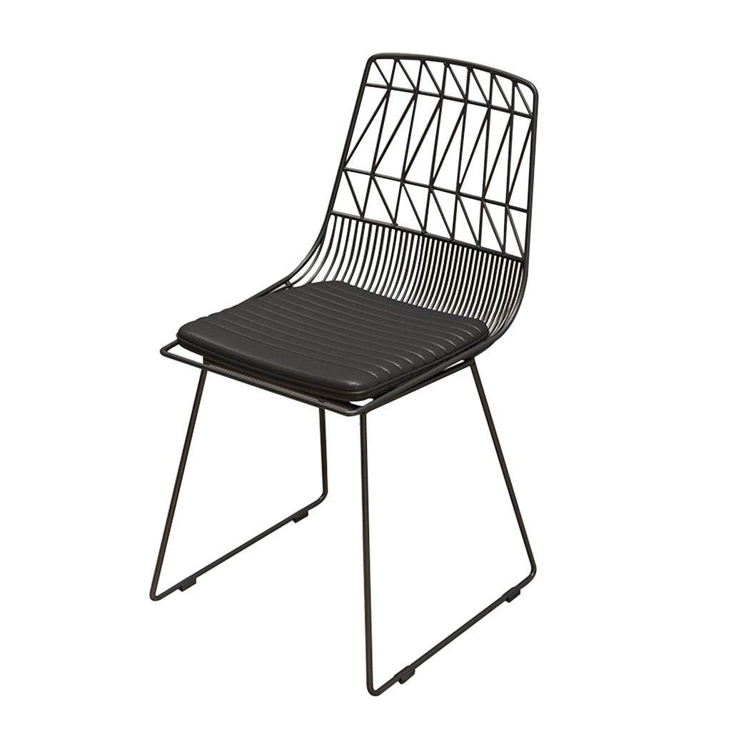 CFJRB 産業スタイルBarStool |椅子背もたれ付きPUキッチン用リビングキッチンリビングルームシートの高さ:45cm (色 : 黒) B07MQPCC13 黒