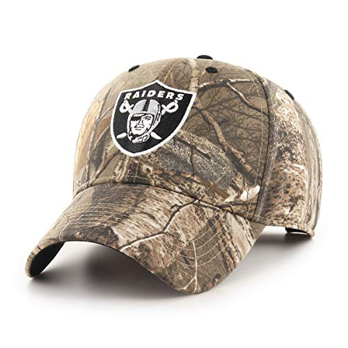 OTS NFL Oakland Raiders Male Hickory All-Star Adjustable Hat, Realtree, One Size