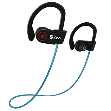 Dlass Wireless Headphones,Sports Bluetooth Earphones with w/Mic IPX7 Waterproof and HD Stereo