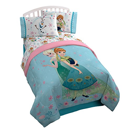 Disney Polyester Comforter (Disney Frozen Perfect Day Microfiber Twin/Full Reversible Comforter)