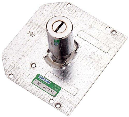 Cilindro de pompa con 3 llaves y placa externa. Mottura mm 70 - ø 30