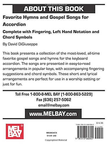 Favorite Hymns and Gospel Songs for Accordion: Complete with