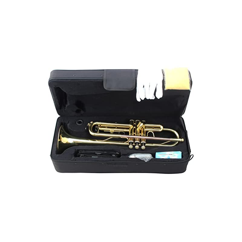 Crescent Concert Band Gold Plated Trumpe