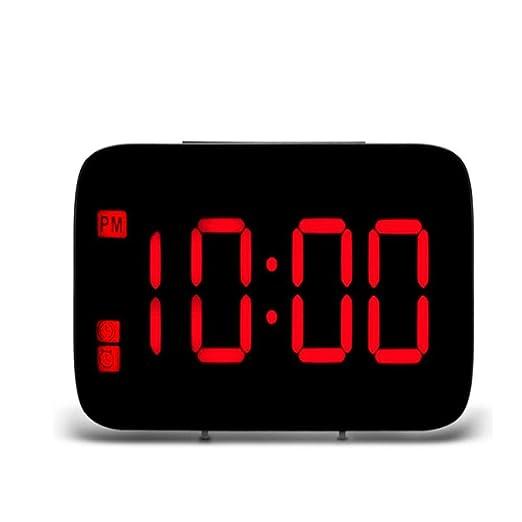NAOZHONGa Despertador LED Pantalla LED Digital Control de Voz ...