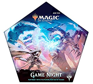 Magic: the Gathering C47860000 Game Night, Card Game for 2–5 Players, 5 Decks, 5 Dice, Accessories