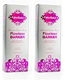 Self Tanning Liquid Flawless Darker by Fake Bake | Luxurious and Fast-Drying Solution that delivers the Beautiful Streak-Free Darkest Tan in the Range | Black Coconut Scent | 6 fl oz(pack of 2)