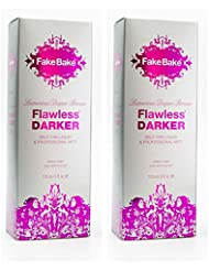Self Tanning Liquid Flawless Darker by Fake Bake | Luxurious and Fast-Drying Solution that delivers the Beautiful Streak-Free Darkest Tan in the Range | Black Coconut Scent | 6 fl oz