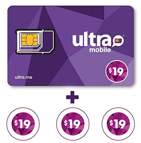 Ultra Mobile triple Punch Sim Card + 3 Months $19 Plan