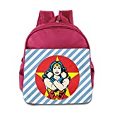 GYB HOME Unisex Wonder Woman Red Poster Children School Bag Backpack