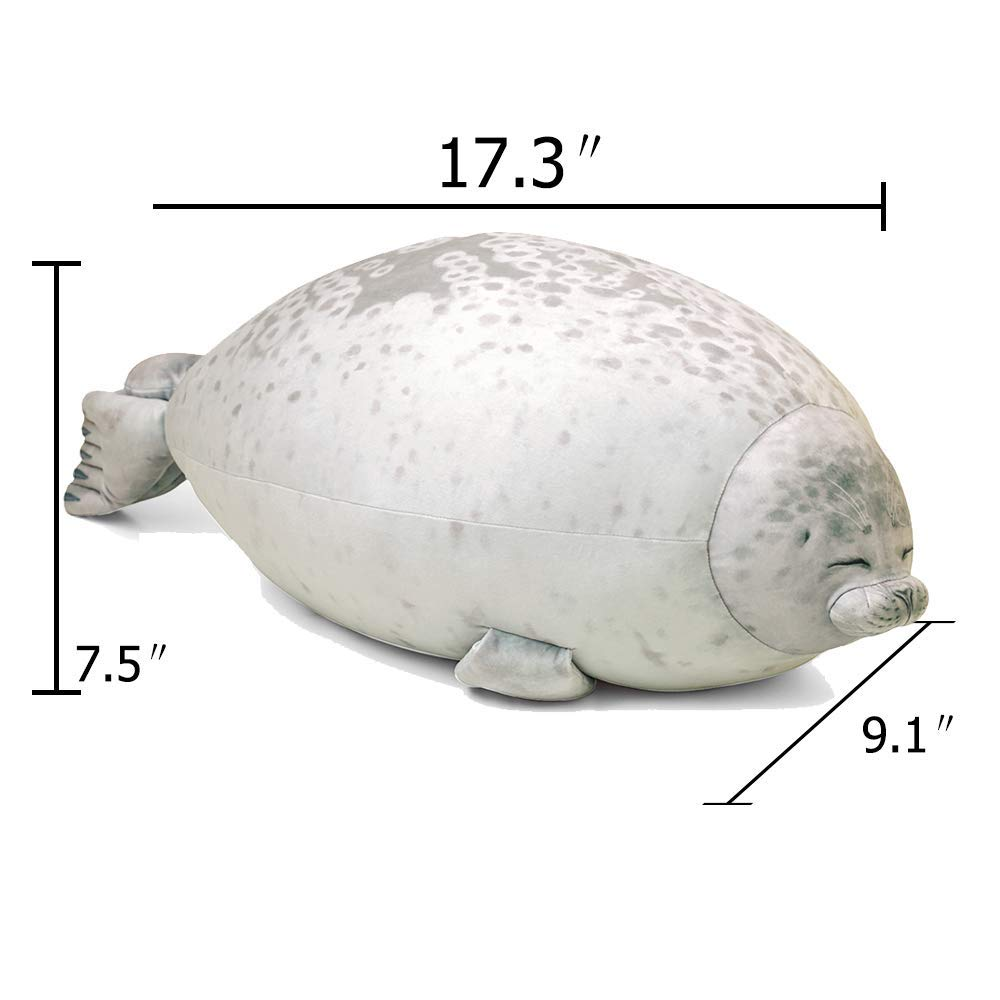 Jackilove Seal Pillow Cute Blob Seal Plush Round Chubby Seal Ocean Animal Hugging Pillow Bed Sofa Soft Plush Pillow Relleno de algod/ón de Felpa Mascotas Regalo de Juguete
