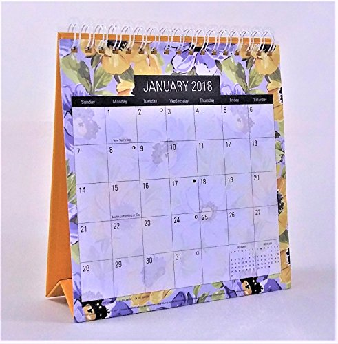 2018 Standing Desk Calendar (Yellow Flowers)