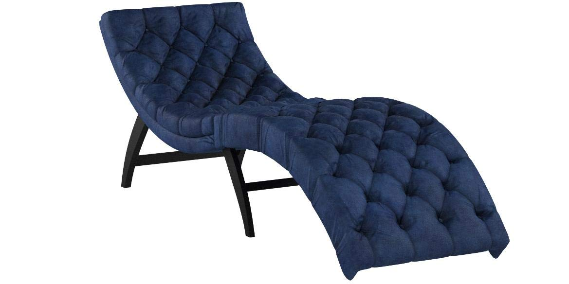 Christopher Knight Home 302204 Garamond Cobalt Velvet Chaise Lounge, Dark Brown by Christopher Knight Home