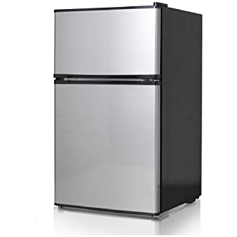 Midea WHD-113FSS1 Double Reversible Door Refrigerator and Freezer 3.1 Cubic Feet Stainless  sc 1 st  Amazon.com & Amazon.com: Midea WHD-113FSS1 Double Reversible Door Refrigerator ...