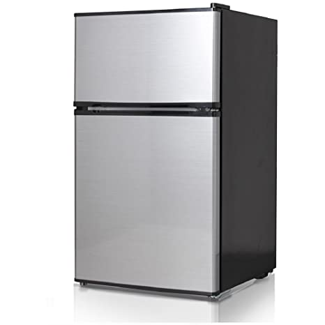 Superieur Midea WHD 113FSS1 Double Reversible Door Refrigerator And Freezer, 3.1  Cubic Feet, Stainless