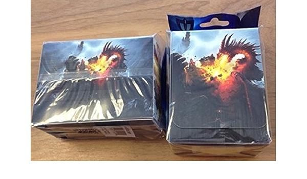 Max Pro Deck Armor Box Deckbox FIRE ANGEL For Gaming MTG Yugion Pokemon
