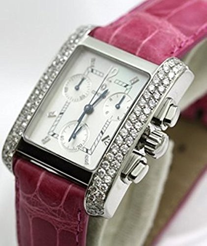 Concord Sportivo Chronograph Mother of Pearl Dial Diamond Bezel Available with Black or Pink Strap Unisex