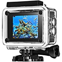 Primacc Wifi Sports Action Camera Waterproof 2.0 Inch Full HD 1080P with 170 Degrees Wide-angle Lens